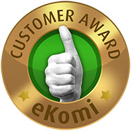 Awarded the eKomi Bronze Seal of Approval!